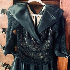 Jessica Howard 50s Style Black Modest Lace Dress